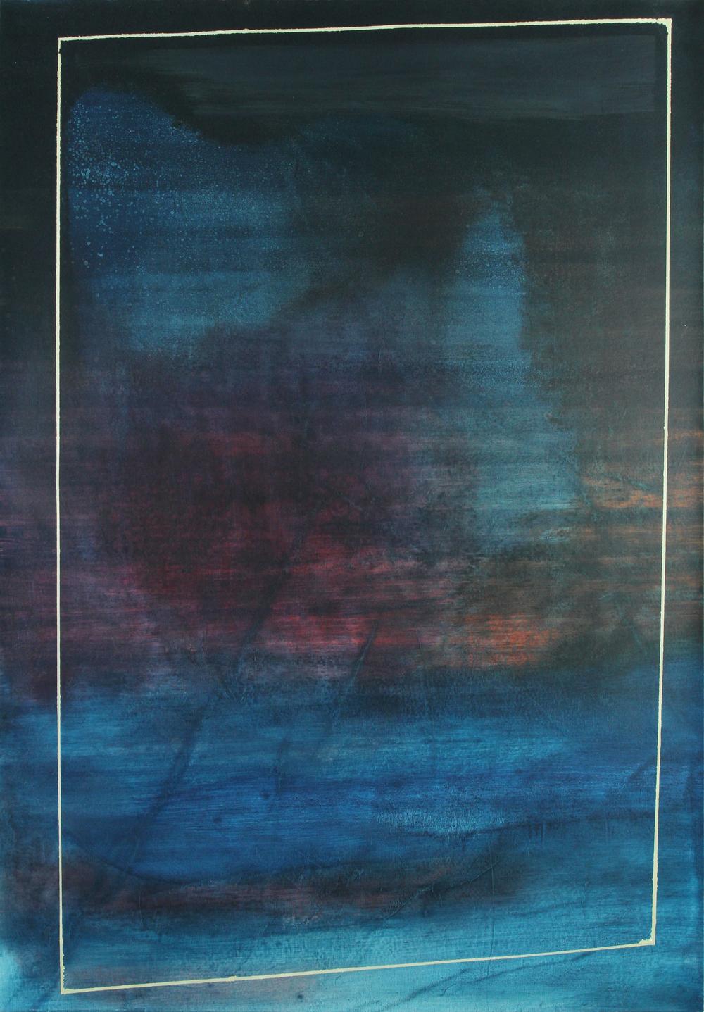 indigo, 2013, oil on canvas, 54 x 37.5 in