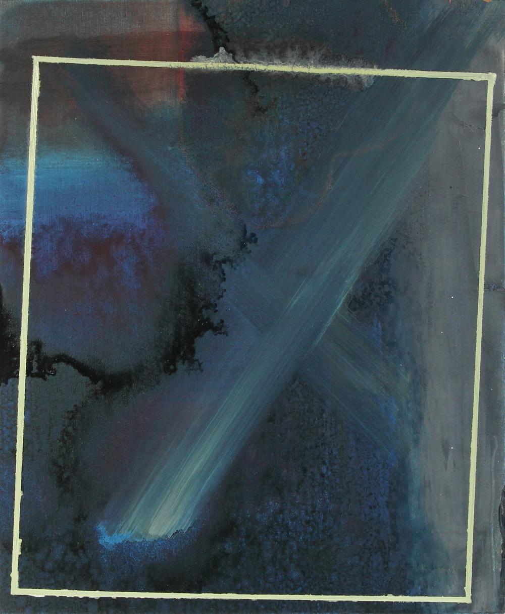 navy grey, 2013, oil on panel, 12.5 x 10.5in