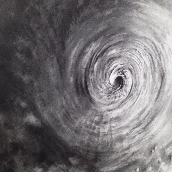 "Detail of 'Tempest', graphite on paper. 8x11"" by Rachelle Reichert"