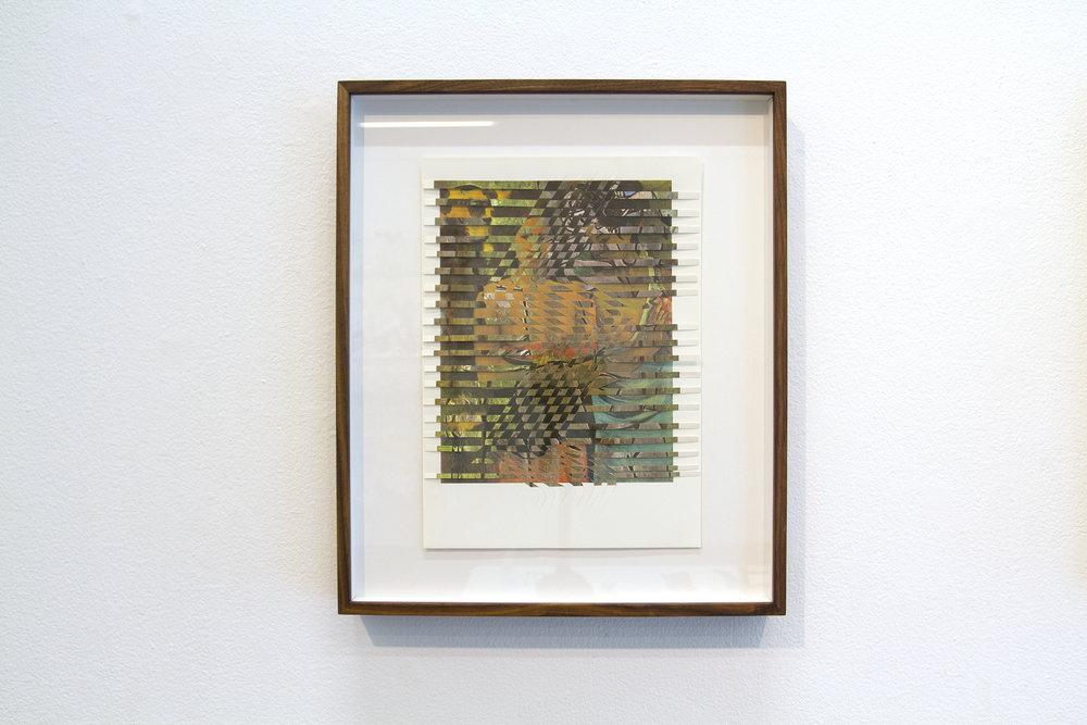 picassogauguin, 2016, paper weaving, 19 x 16
