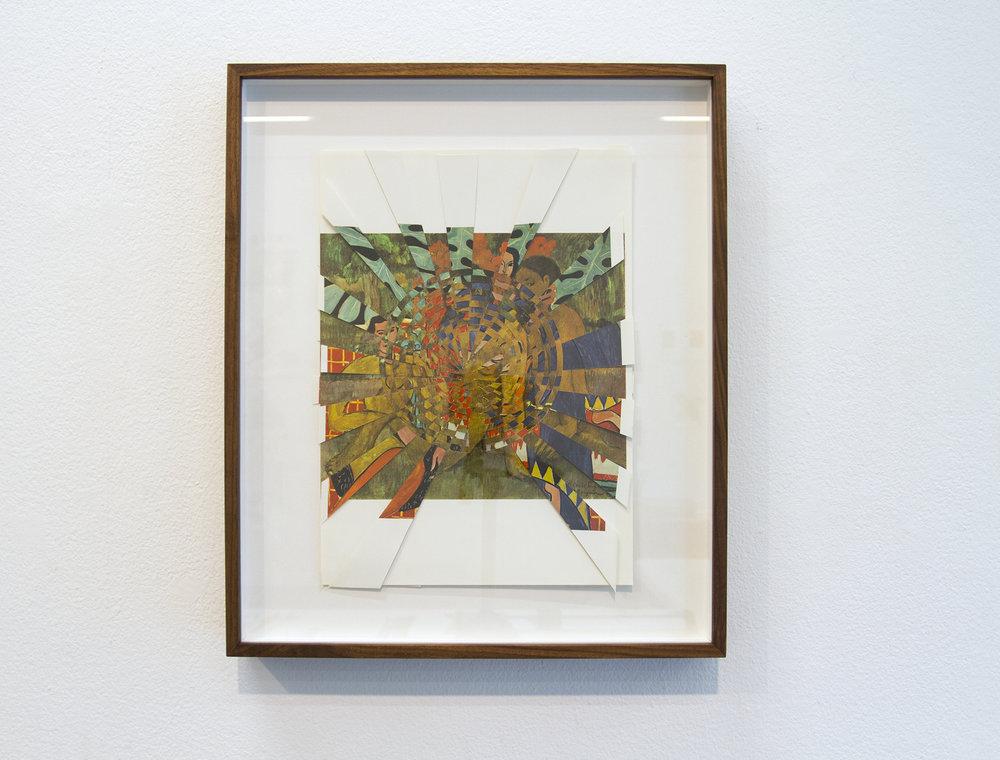 matissegauguin, 2016, paper weaving, 19 x 16