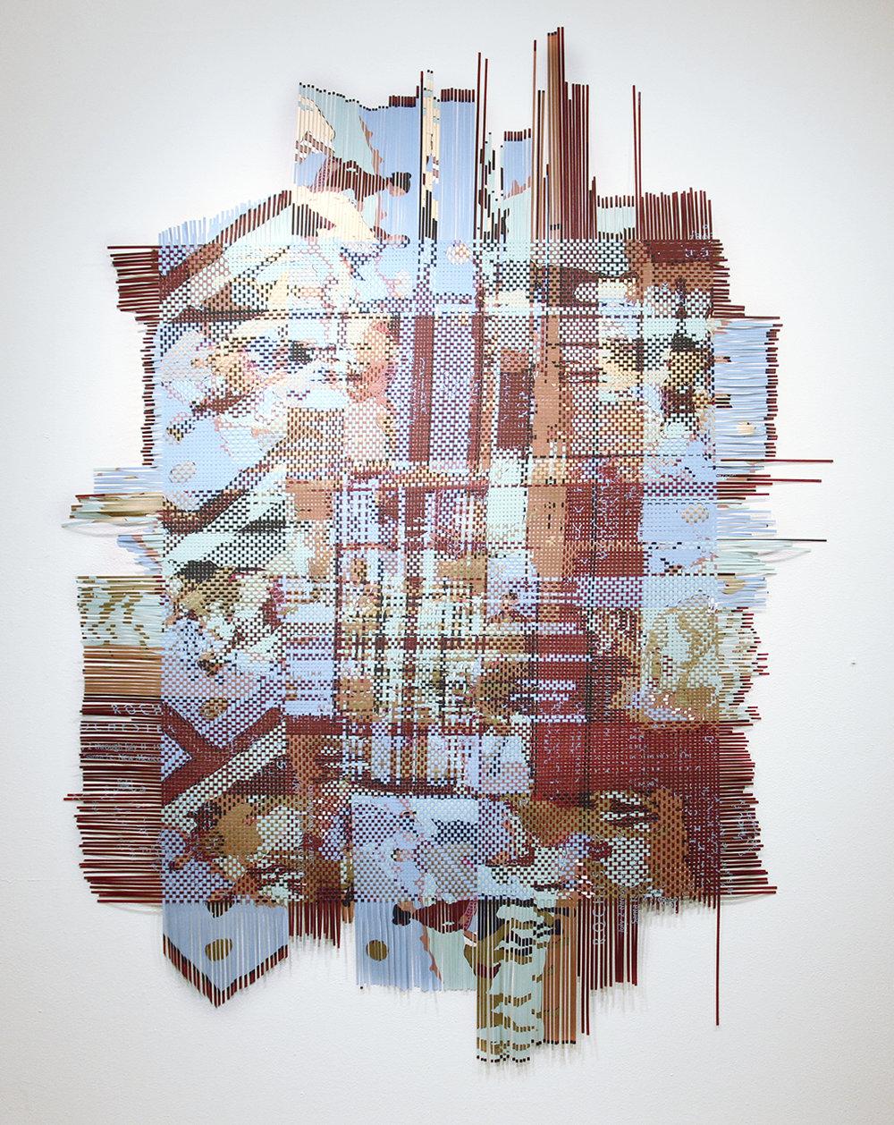 Santa Fe, 2012, woven silkscreen art posters, 108 x 81