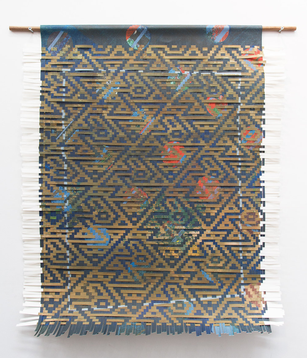 blue brown, 2017, woven inkjet print on paper, 47 x 37in.