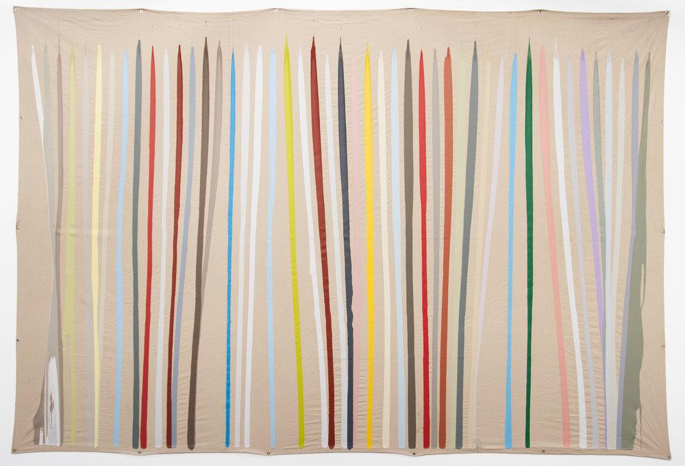 Paint Pour #2, latex on canvas, 12ft x 8ft