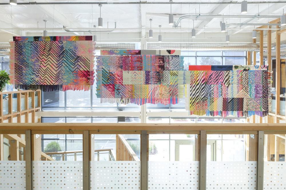 Paper weaving installation for Facebook Artist in Residence Program 2018