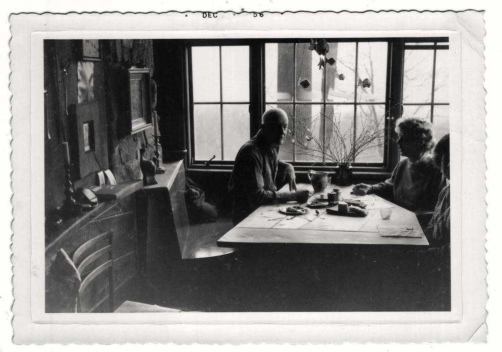 Esherick and Mariam Phillips at Esherick Studio
