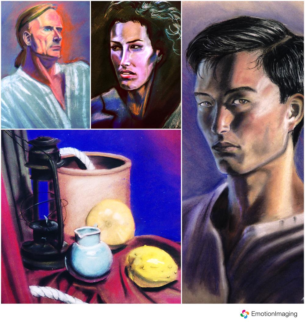 Colour Conté Drawings by Richard Lee