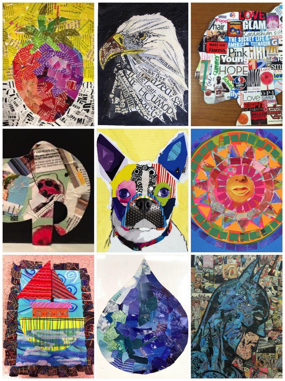 Magazine Collage Examples