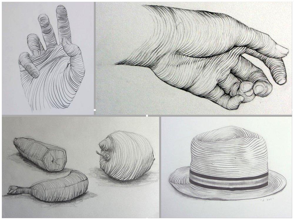 More advanced contour line drawings