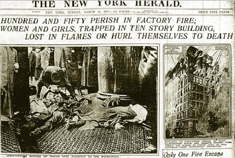 Infamous Triangle Shirtwaist factory fire