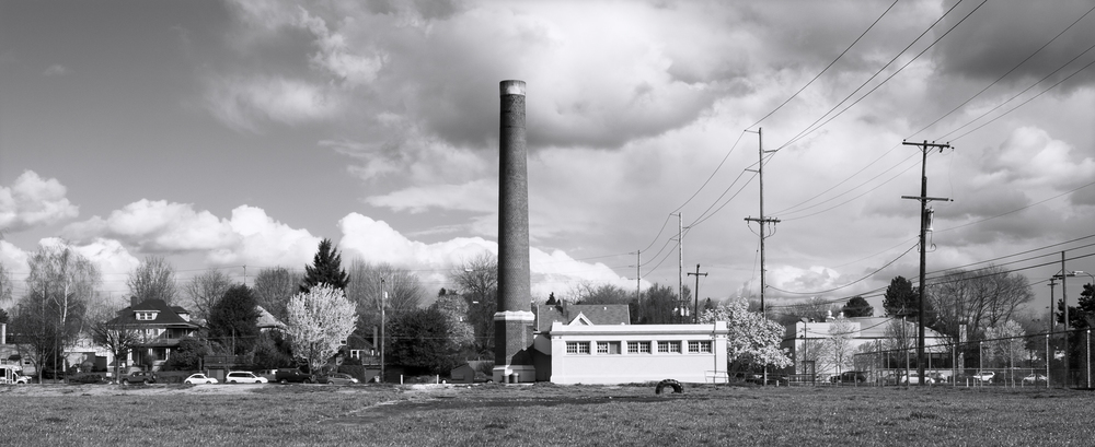Washington High School Boiler Building and Smokestack, Buckman Neighborhood, SE Portland