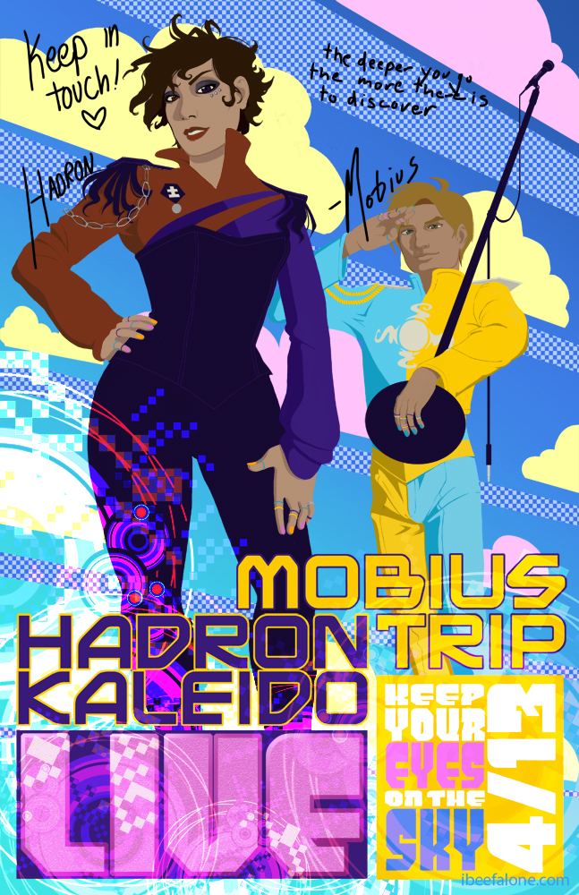 Promotional poster for  Mobius Trip and Hadron Kaleido  release.