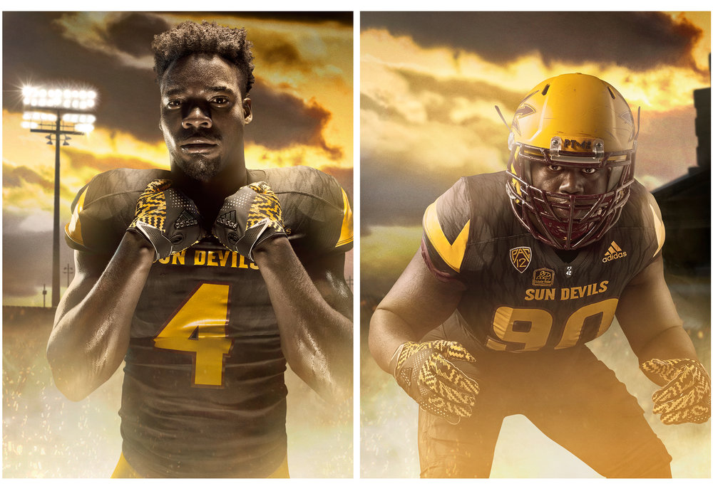 FY18 ASU  SUN DEVIL    FOOTBALL  Photoshoot  Creative + Art Direction  with  photographer   Blair Bunting    cr8@ sun devil athletics, arizona state university