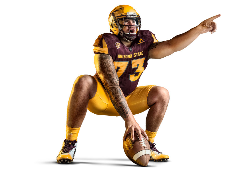 FY18 ASU  SUN DEVIL    FOOTBALL  Photoshoot  BREAKTHROUGH   Creative + Art Direction  with  photographer   Blair Bunting    cr8@ sun devil athletics, arizona state university
