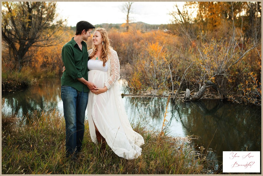 Amy's beautiful maternity glamour portraits near Colorado Springs, CO.