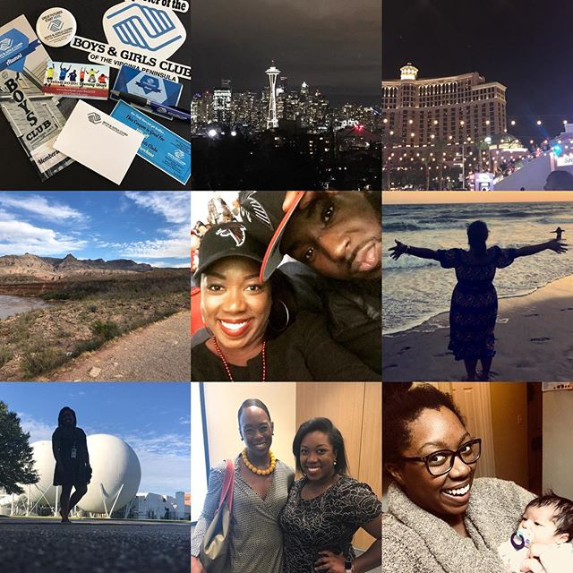 My year in review: -photos in order- I wrapped up my Ameri Corps service term with some pretty cool projects. Went to Seattle, Las Vegas, the Grand Canyon, Santa Monica, the Falcons Cowboys game, and Denver. Got a job @nasa_langley and met some game changing innovators who help make the world that much brighter. And met my adorable, little, newborn niece. I asked the  Lord to bless me indeed, just like Jabez, almost everyday this year. And that He did. My heart is so full. I am overwhelmed by the love God will undoubtedly continue to show us all in the year to come. ✨