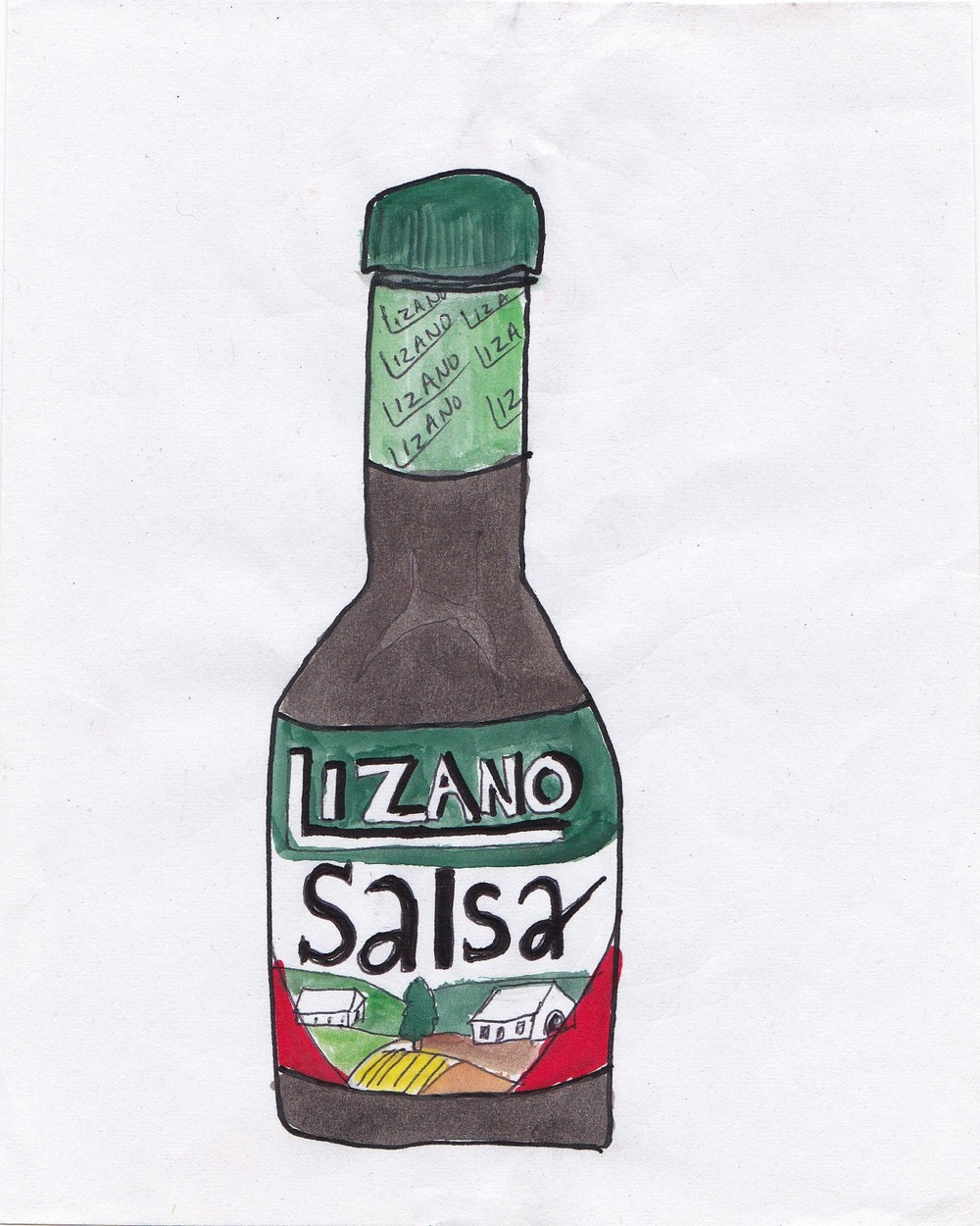 Salsa Lizano is the Costa Rican equivalent to Ketchup in the UK. It's an emalgamation of spicy flavors and i t goes with pretty much everything. It's like a spicy brown ketchup.