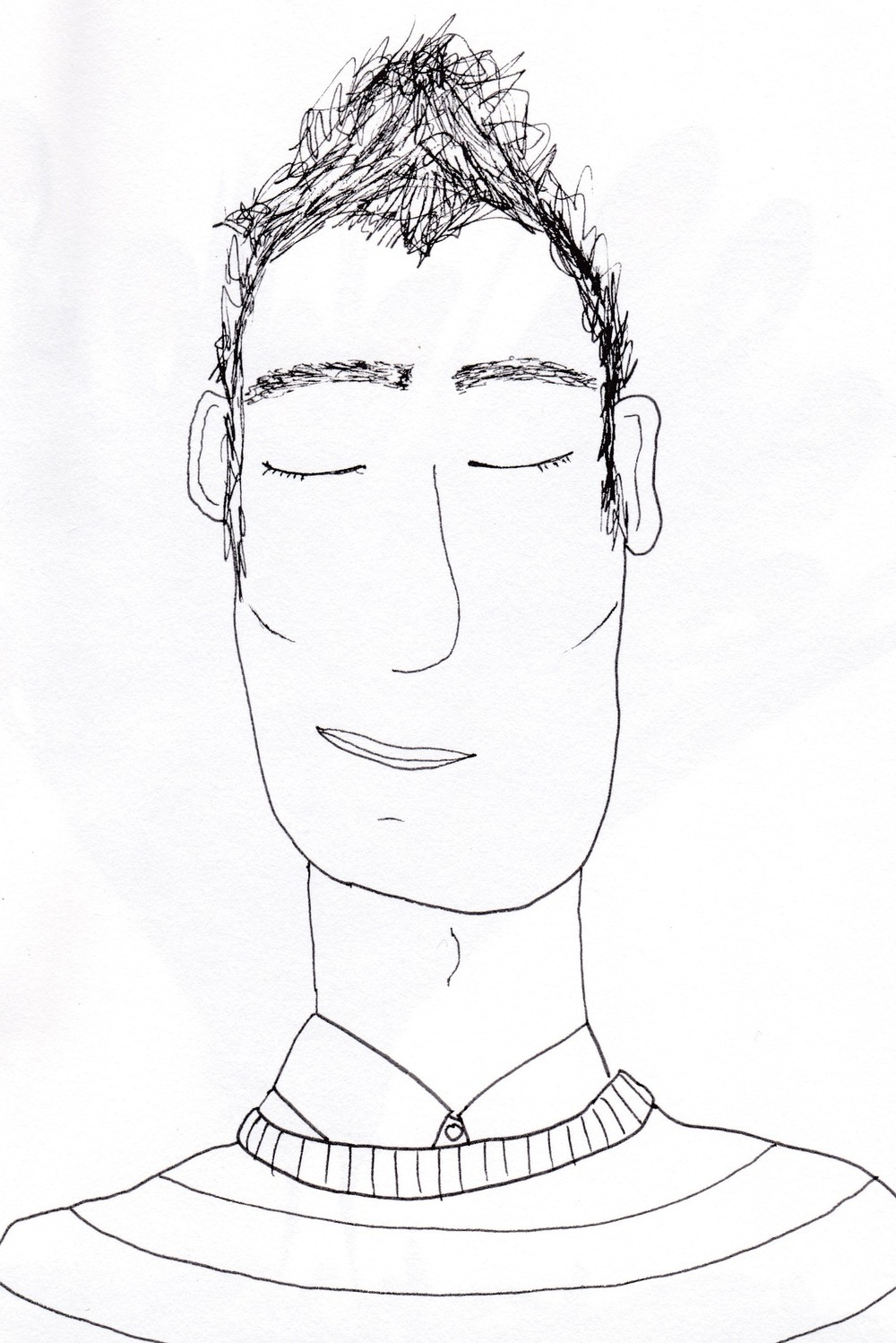 An illustration of an imaginary man called Simon by Alice Beese