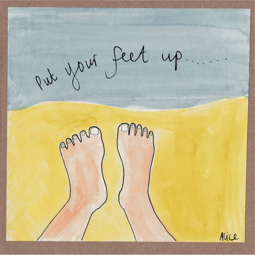 If you aren't already unplugged: Its time to put your feet up and relax.