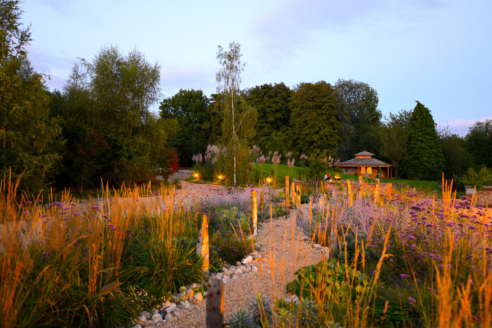 West Lexham gardens, stunning walks with wild flowers, bees, trees, vegetable gardens, a river to swim in. The perfect place to open hearts and minds to what's possible.