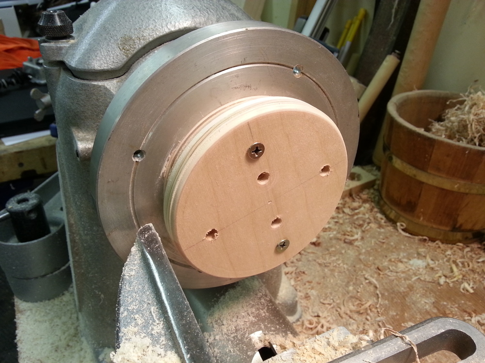 Bulkhead mounted to the turning jig.