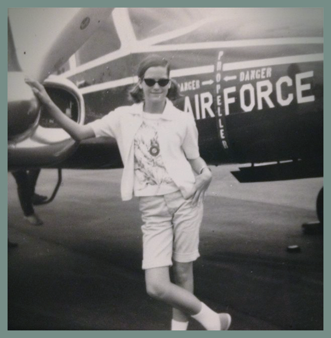 Shirley Lowry Hawkins, Air Force Brat.
