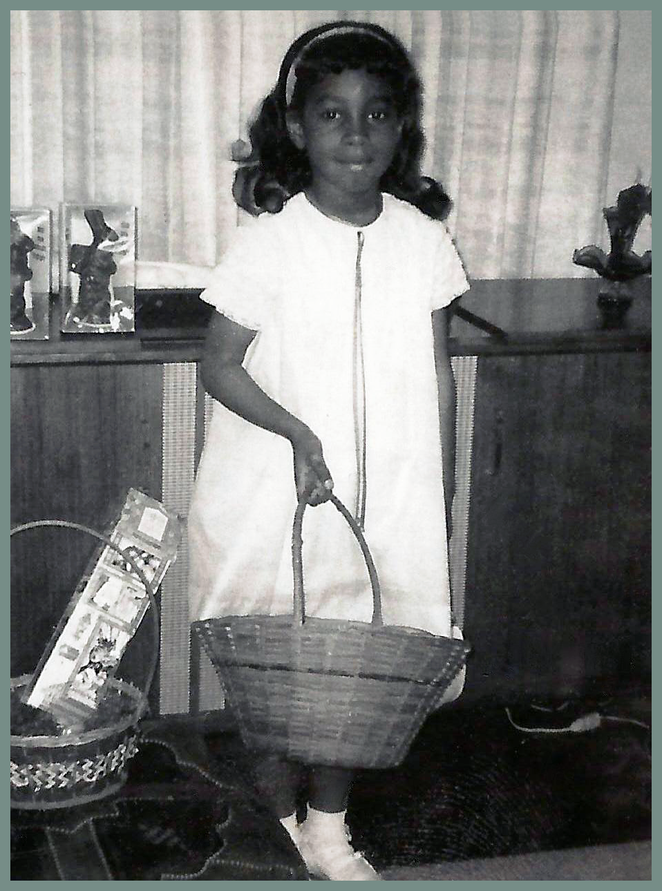 Diane Dillard heading for the Easter egg hunt.