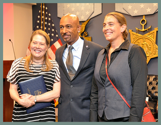 Military Kid Art Project Founder Lora Beldon and BWB Founder Donna Musil with Montel Williams.