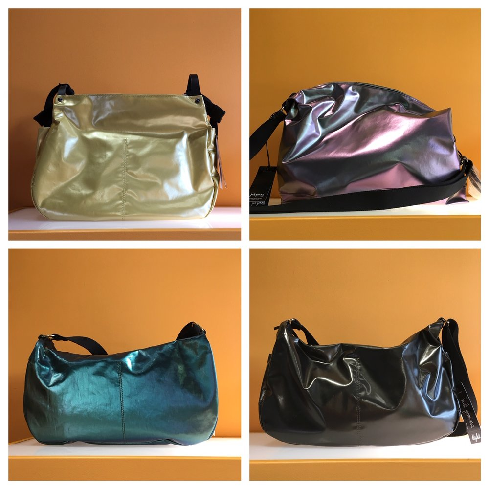We now carry Jack Gomme handbags. These made-in-France bags are gorgeous. (*not on sale)