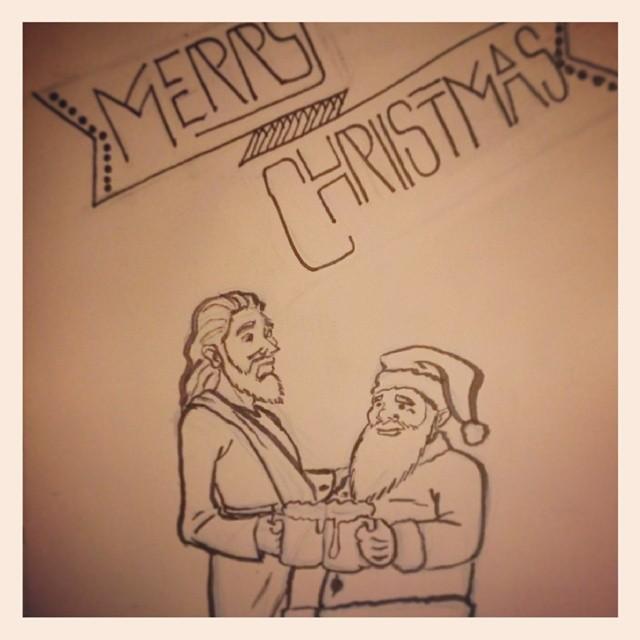 From Black Santa and Black Jesus, Merry Christmas! Kwanzaa starts tomorrow. Watch nobody celebrate. Lol