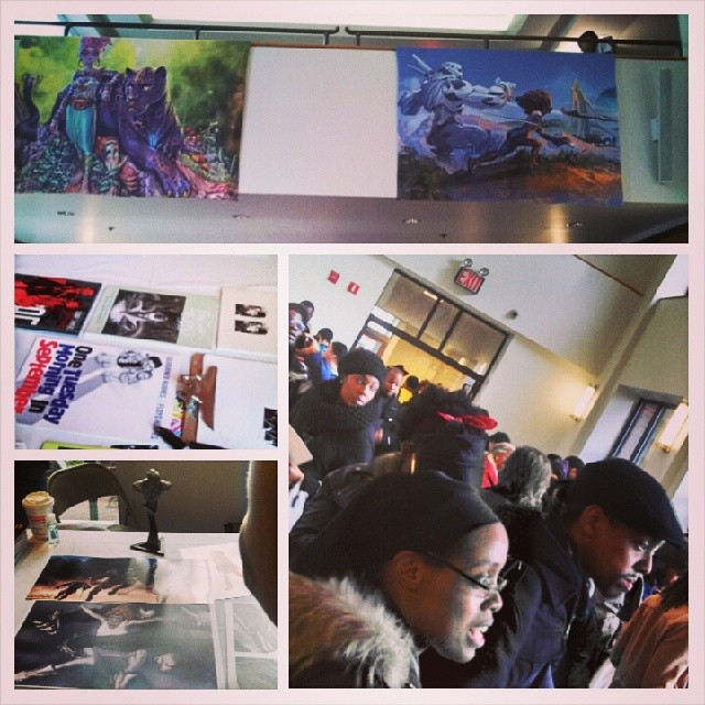 #WhereYouAtT0ne Harlem at the Black Comic Book Fest. Stop by and check out the incredible work at the Schomberg Center. (at New York Public Library - Schomburg Center for Research in Black Culture)