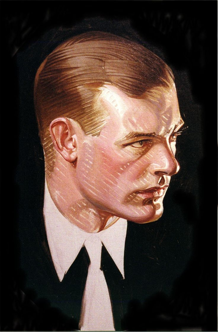J.C. Leyendecker. That graphic technique and brushwork…