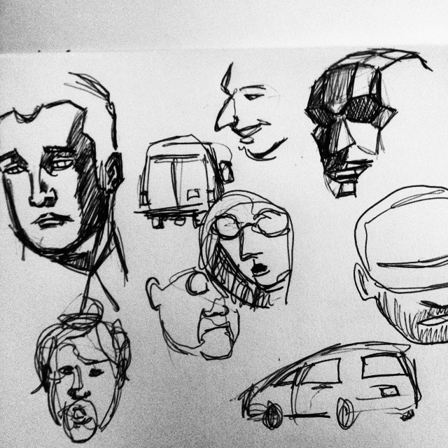 Sketches while working on the old truck today. #sketches (at Trimaxion Fine Arts)