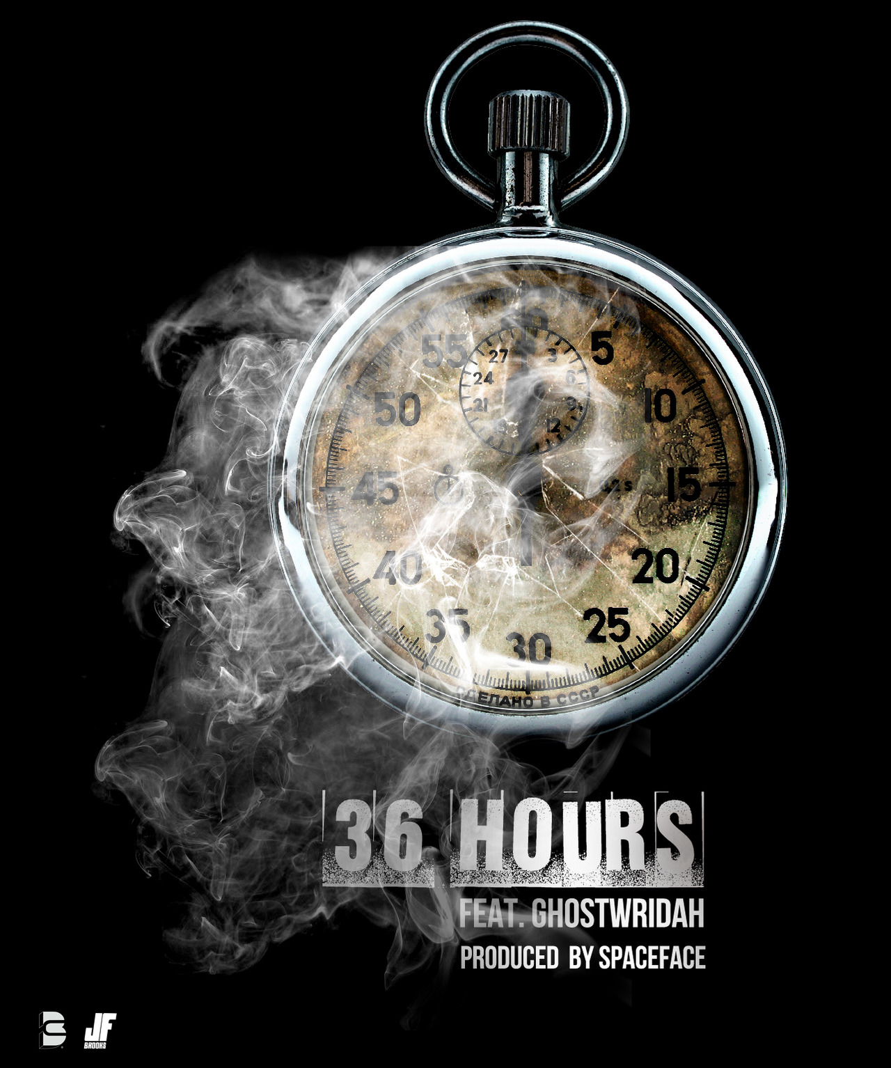 """jerzyfrombrooklyn: """"36 Hours"""" Feat. @ghostwridah Produced by. @olaspaceface (SpaceFace) First Single off my upcoming Project. """"Escape From Purgatory"""" #ARTWORK #BiGCiTYBiGCiTY #BiGCiTY2X @JF_BROOKS first single airs Monday, January 14th!!! Get ready!!!"""