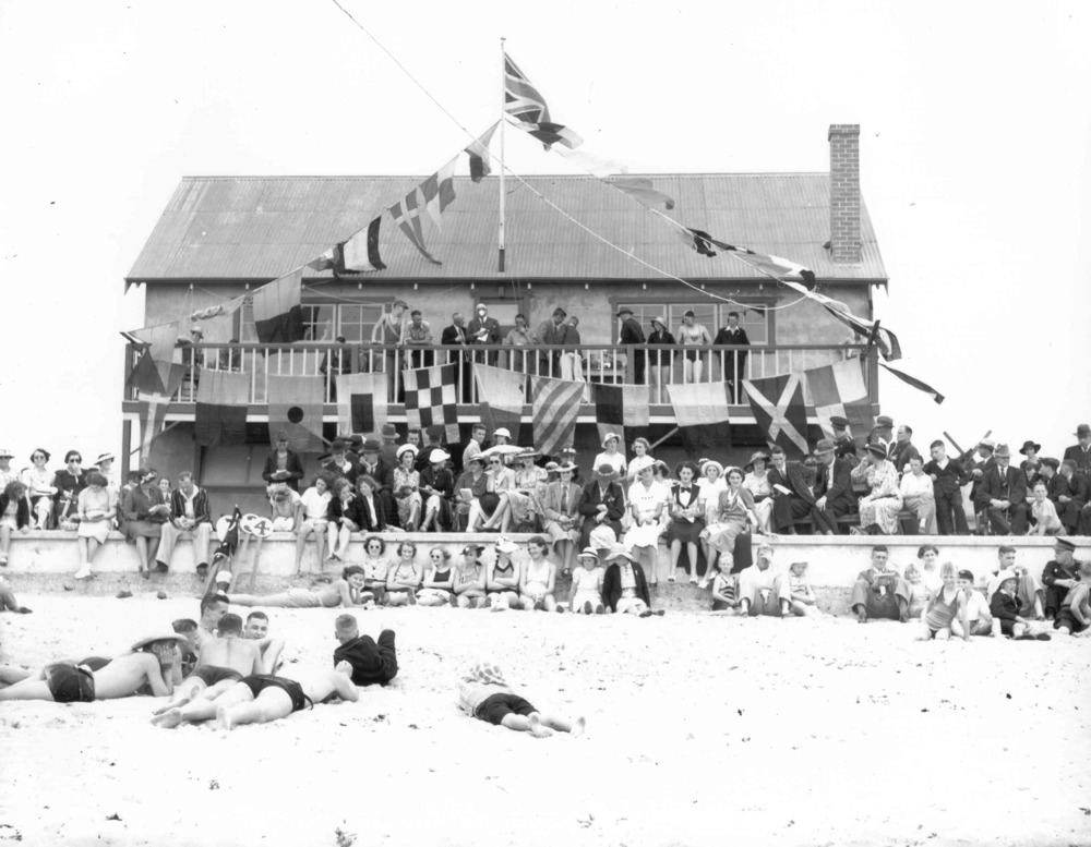 1935-36 Opening day Old Clubhouse