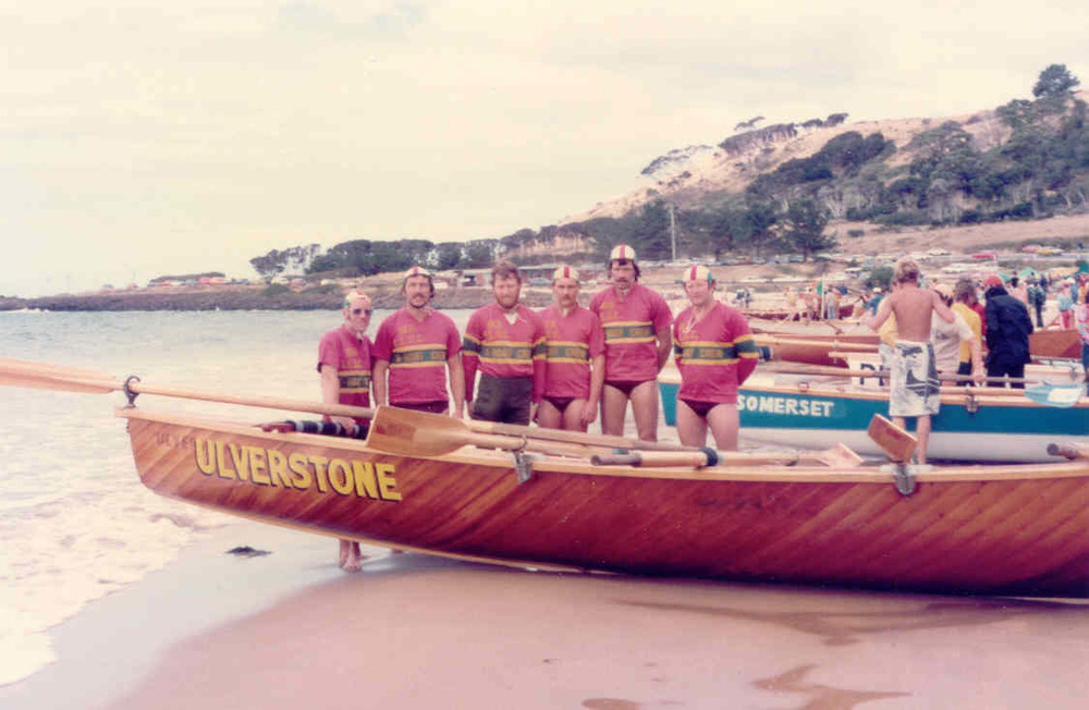 1981-82 A Crew Terry Jones, Peter Redman, J Woodhouse, Unk, Warren Wescombe, Kerry Diprose