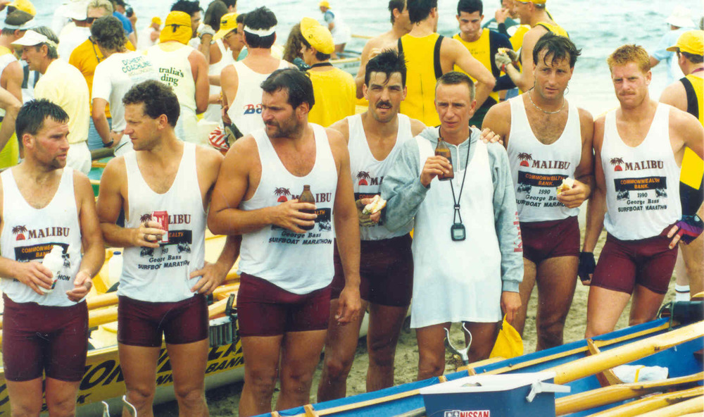 1989-90 George Bass Relaxing at Finish