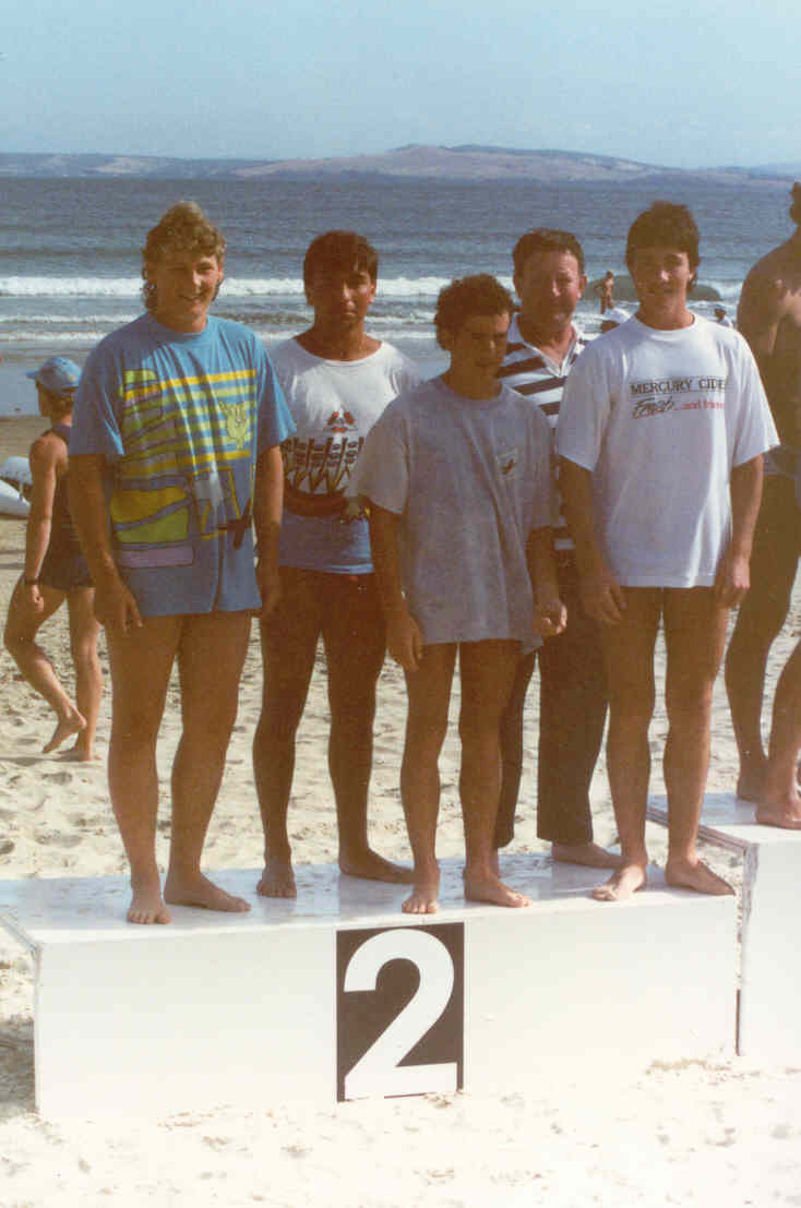 1989-90 K Diprose, Adam Jones, Simon England, Jamie Spicer and Jason Diprose Juniors 2nd at Carlton