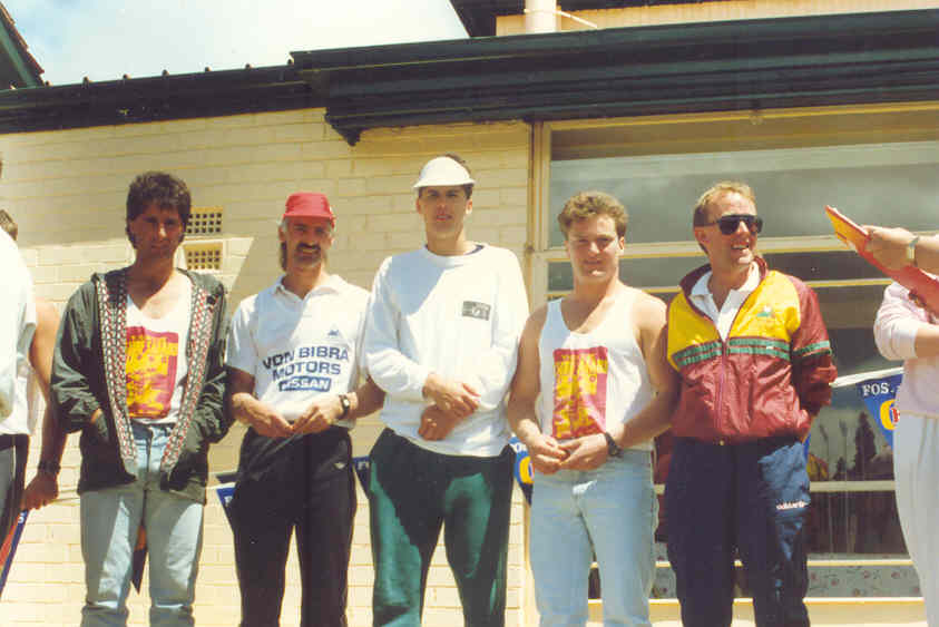 1990-91 B Crew Best, Butcher, Knowles, O'Neill, Orr Mercury 2nd