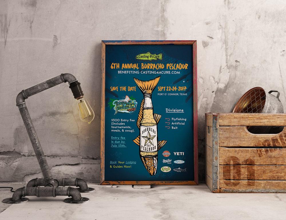 Chimys | Borracho Pescador | Poster Design