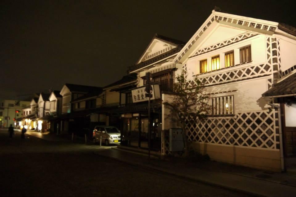 抵達倉敷時已是傍晚時分,下著小雨,狼狽的在雨中散步