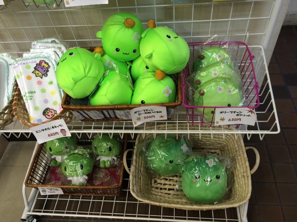 島上販售的可愛的吉祥物olive紀念品