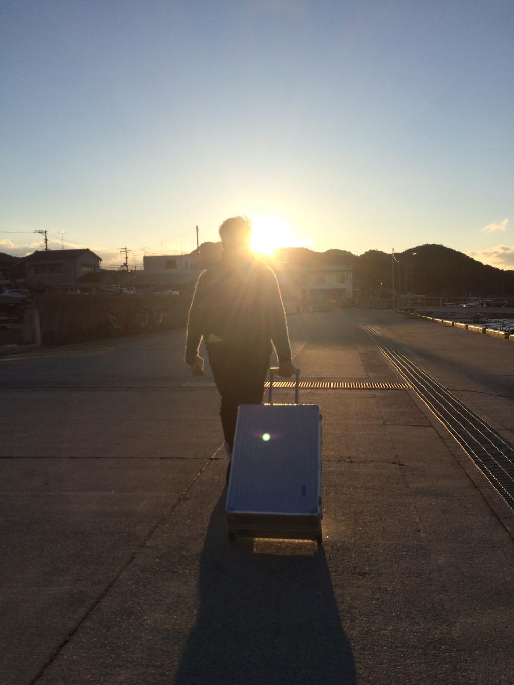 結束自抵達日本後最充實的一天行程,這次我們將住宿點轉到宇野港的菊水旅館