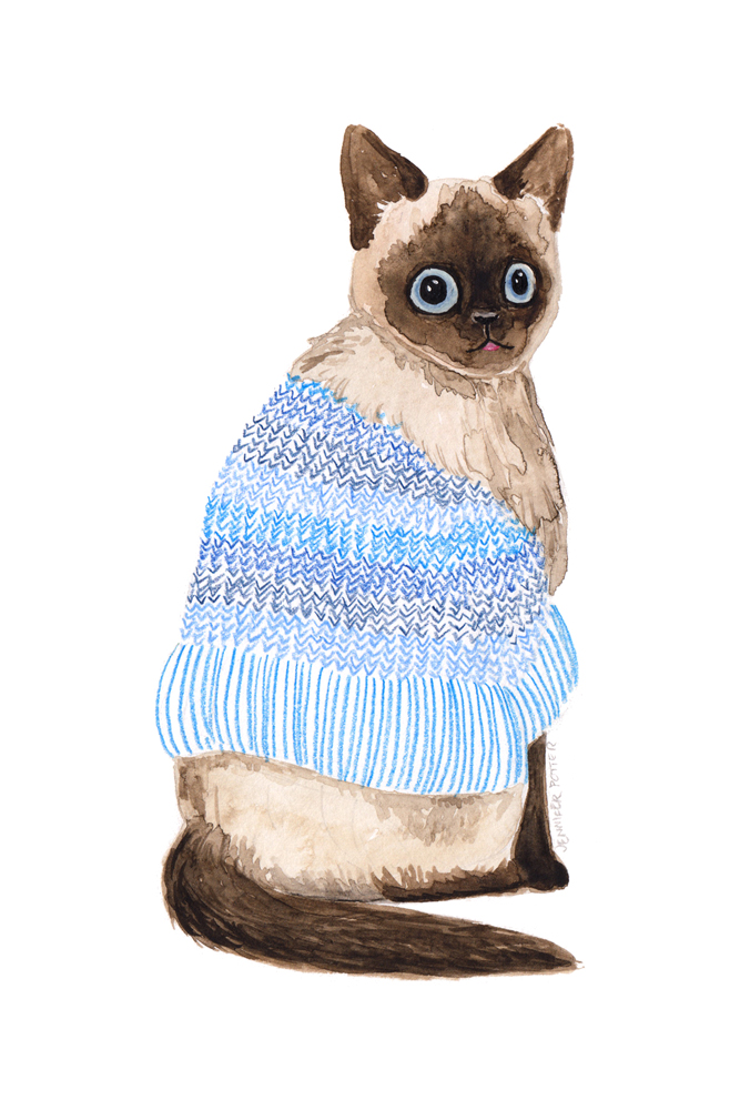 Animals in Sweaters, Blue