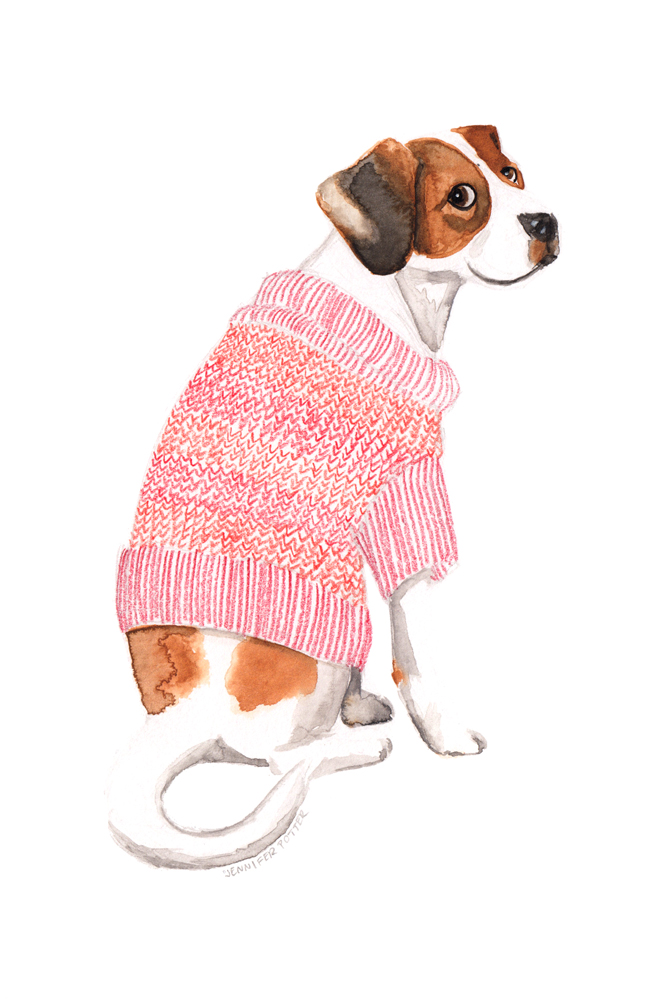 Animals in Sweaters, Red