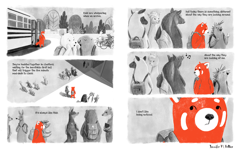 Black & White & Red All Over, Pages 4-5