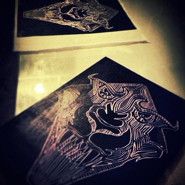 Wood Carving + Print Media