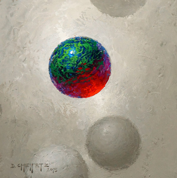 Alpha Orb  6x6in oil on panel