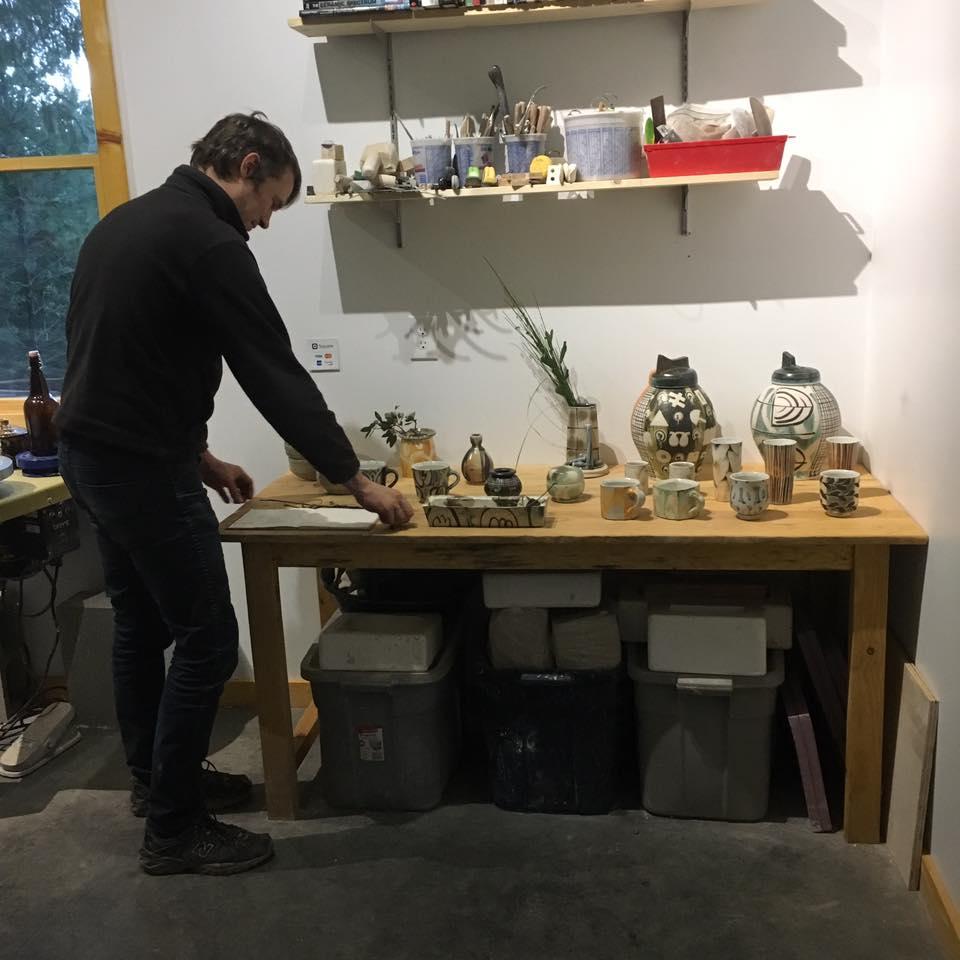 HP Bloomer arranging his studio for the studio sale