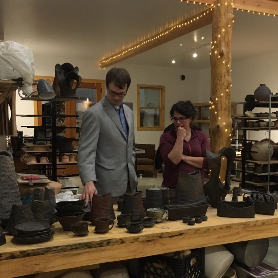 HP Bloomer & Shasta Krueger talking shop at the Holiday Sale